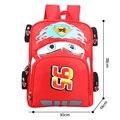 2016 High Quality Cute Cartoon 3D Car School Bags children backpacks for boys girls Kids Kindergarten Bag Printing Nylon Mochila