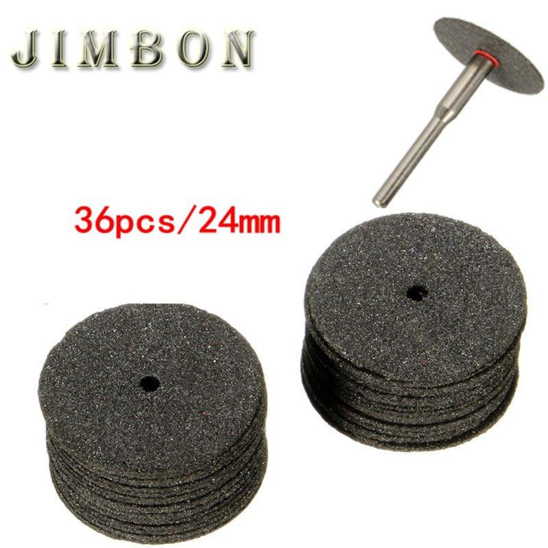 36pcs 24mm Resin Cut-off Wheel Cutting Disc Kit For Dremel Rotary Tool Dremel