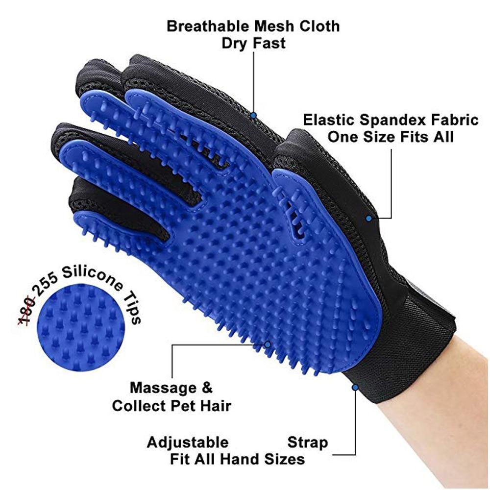 2 Cat Dog Comb Care Glove