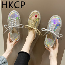HKCP Women wear slippers outside summer 2019 new linen sequins flat casual lace-up straw woven fishermans shoes C165