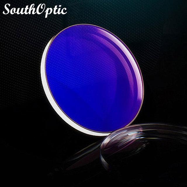 1.597 Blue Ray Cut B miopía rc receta ASP visión única U2 computadora de recubrimiento de lente con lente Cut y servicio de montaje del marco Lentes
