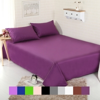 Pure Cotton Luxury Solid Flat Sheet Bedsheet Bed Sheet Linens Bedding Sheets White 220*240