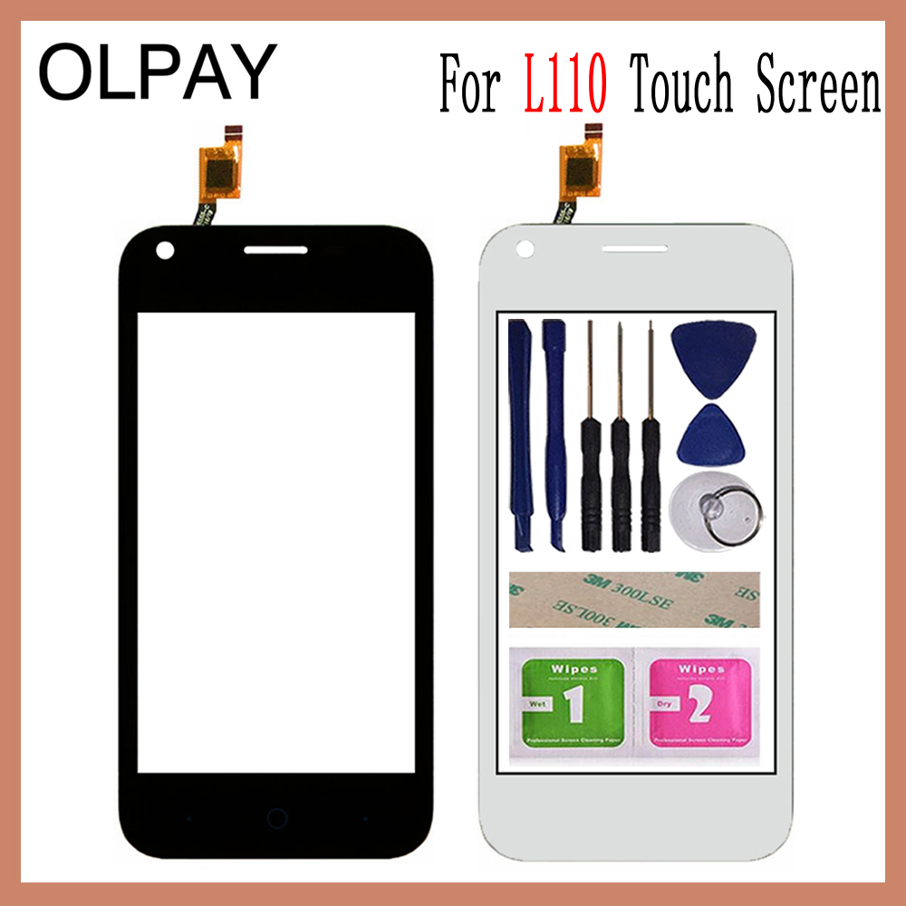 OLPAY 4.0 Inch For ZTE Blade L110 L 110 Touch Screen Digitizer Panel Front Outer Front Glass Lens Sensor Free Adhesive+Wipes