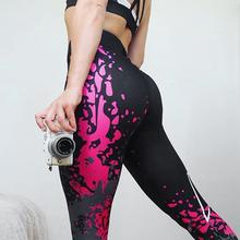 NEW Floral Printed Pants Women Sexy Elastic Band Athletic Gym Leggings Ladies Bandage Tight Sports Running Yoga Pant Workout #Ju