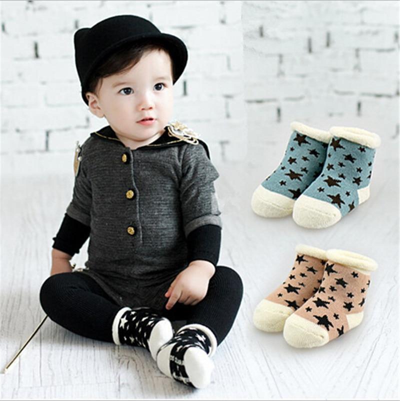 Fashion New Cotton Baby Socks Slip-resistant  Floor Thick Warm Sock Kids Newborn Cartoon Socks For 0-4 Years