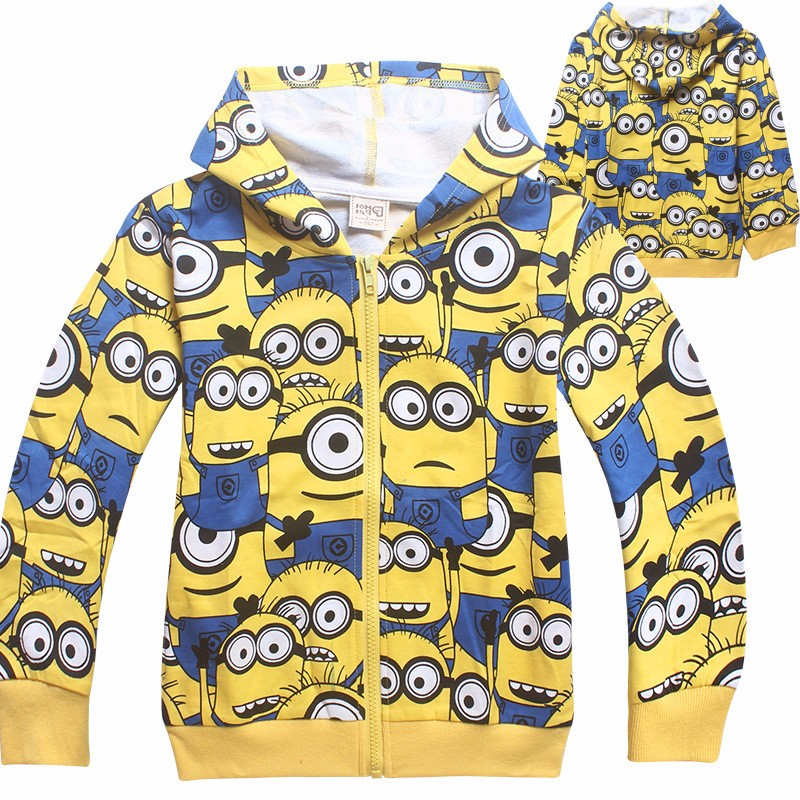 Minions boys clothes girls t shirts for kids clothing toddler in children Spring hoodies costume sweatshirts cartoon sweater (3)
