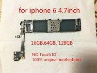 100% original desbloqueado placa lógica circuitos motheboard para iphone 6 128 gb sem toque id bom trabalho ios sistema + ferramenta +