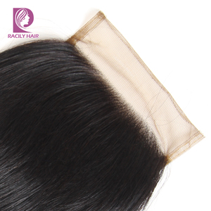 Image 3 - Racily Hair T1B/30 Brown Ombre Closure Brazilian Body Wave Lace Closure With Baby Hair 4x4 Lace Closure Remy Human Hair Closure