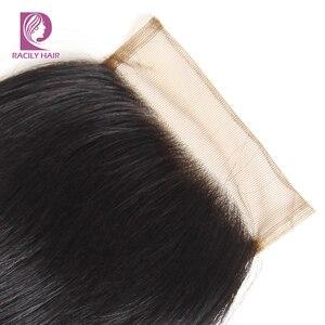 Image 3 - Racily Hair T1B/30 Brown Ombre fermeture brésilienne vague de corps dentelle fermeture avec bébé cheveux 4x4 dentelle fermeture Remy cheveux humains fermeture