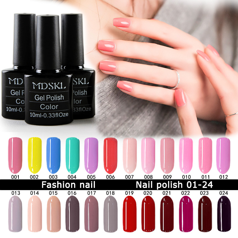MDSKL 132 Colors UV Gel Nail Polish 10ML beauty Soak-off Nail Glitter UV Gel Lacquer Nail Art Manicure LED Varnish
