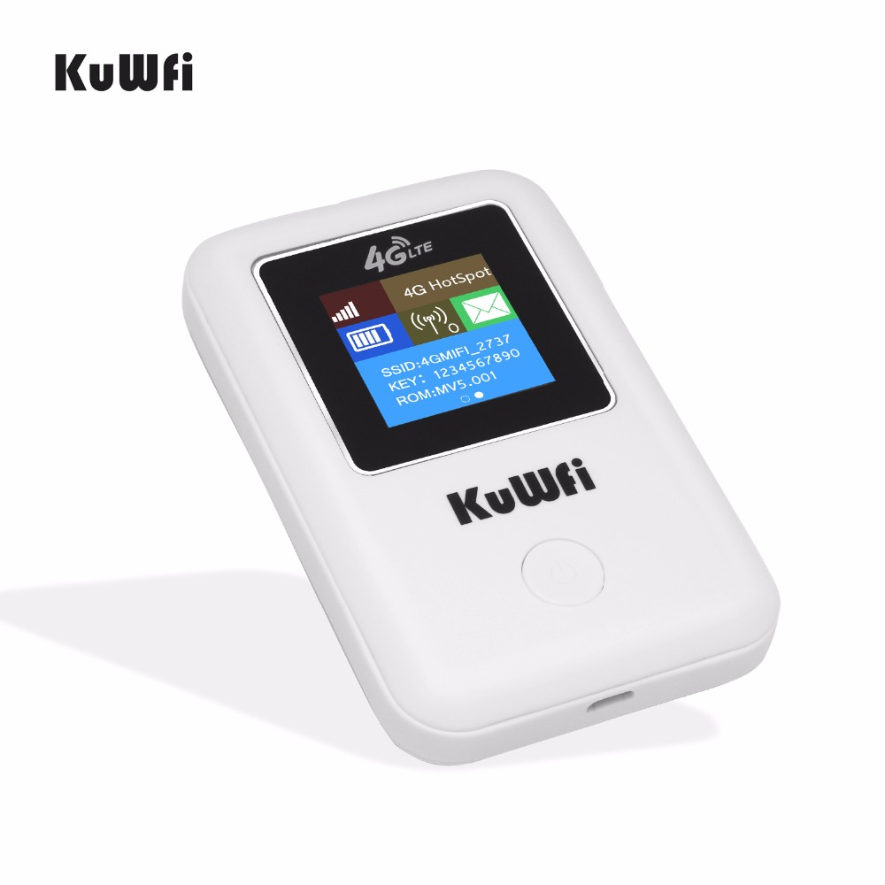 Image 3 - KuWFi Mini 4G LTE WIFI Router Unlocked Portable 3G/4G Wifi Router Modem Car Wi fi Router With Sim Card Slot-in 3G/4G Routers from Computer & Office