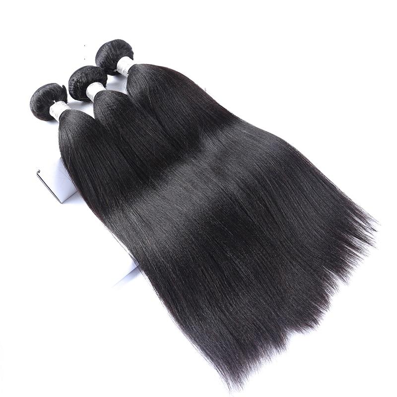 Light Yaki Straight Brazilian Human Hair Weave Bundles Virgin Hair Extension 3 Bundles Natural Color Hair Extensions CARA Hair
