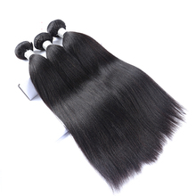 Light Yaki Straight Brazilian Human Hair Weave Bundles Virgin Hair Extension 3 Bundles Natural Color Hair Extensions CARA Hair