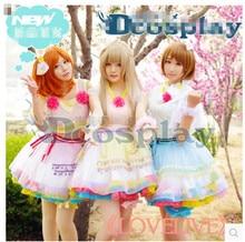 New Arrival Love Live Kousaka Honoka+Kotori minami +Hanayo Koizumi Concert SJ Drees cospaly costume For Women Free Shipping
