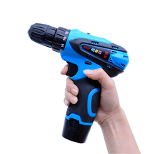 Double 2*speed 12V Waterproof Rechargeable Drill Cordless Screwdriver Electric Drill Tool Set+ Rechargeable battery+Charger