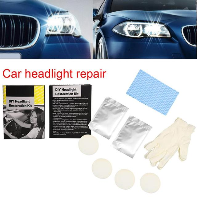 9h Car Headlights Restoration Kit Anti Scratch Polishing Liquid Coat