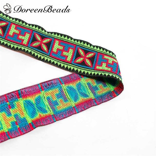 DoreenBeads Beliebt Geometrische Muster Baumwolle Band Trimmen ...