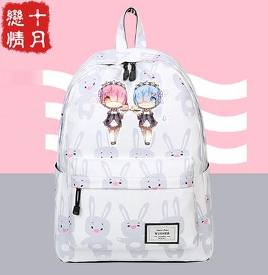Anime Re:Zero kara Hajimeru Isekai Seikatsu cosplay Campus Student Men and Women College Style Schoolbag Backpack Travel Bag    Anime Re:Zero kara Hajimeru Isekai Seikatsu cosplay Campus Student Men and Women College Style Schoolbag Backpack Travel Bag