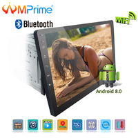 AMPrime 10.1 Android 8.0 Car Stereo Radio 2 din CD/DVD Car Multimedia player Touch Screen Audio Stereo GPS Navigation FM AM USB