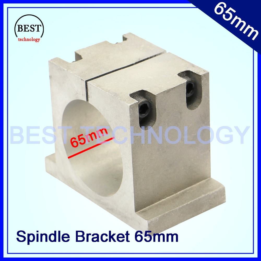 New product  65mm cnc spindle mount Cast Aluminium bracket of cnc spindle motor  mount bracket clamp cnc machine tool spindle