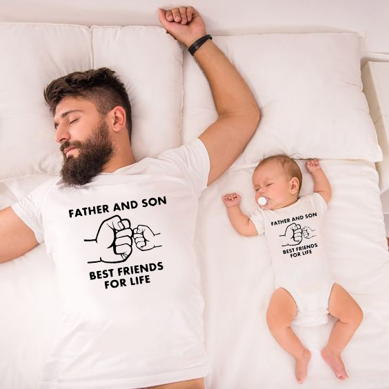 Matching Clothes T-Shirt Family-Look Best-Friends Son Baby Dad And for Life