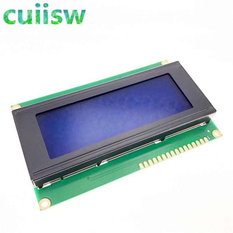 ЖК-плата для arduino, 1 шт./лот, 20*4, 20X4, 5 В, синий экран, черный ЖК-дисплей 2004, ЖК-модуль для arduino