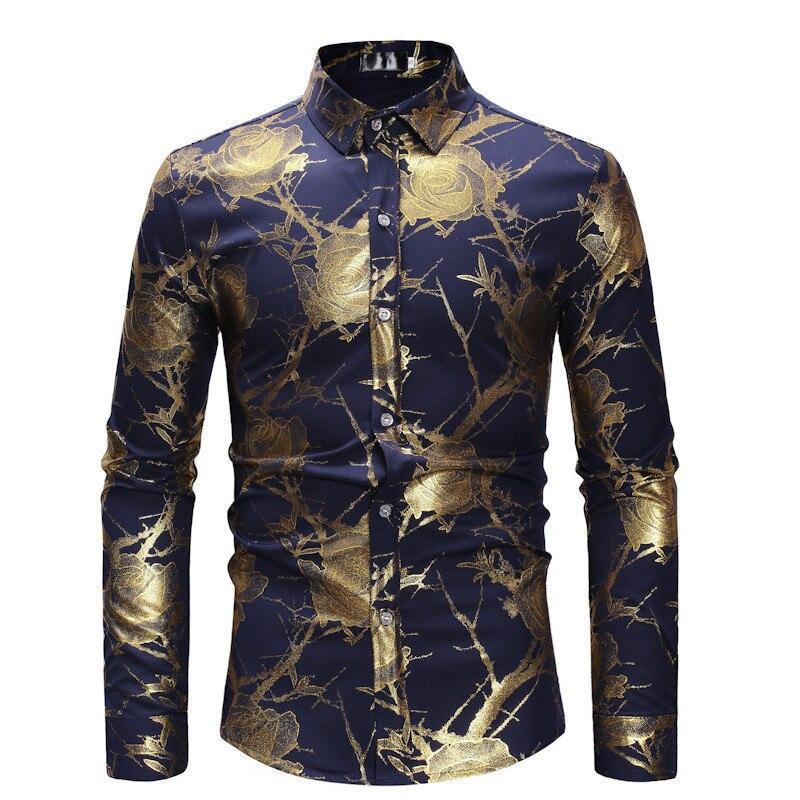Для мужчин рубашки, рубашки с длинным рукавом в европейском и американском стиле Стиль Однобортный Для мужчин рубашки уличная весна и Осенн