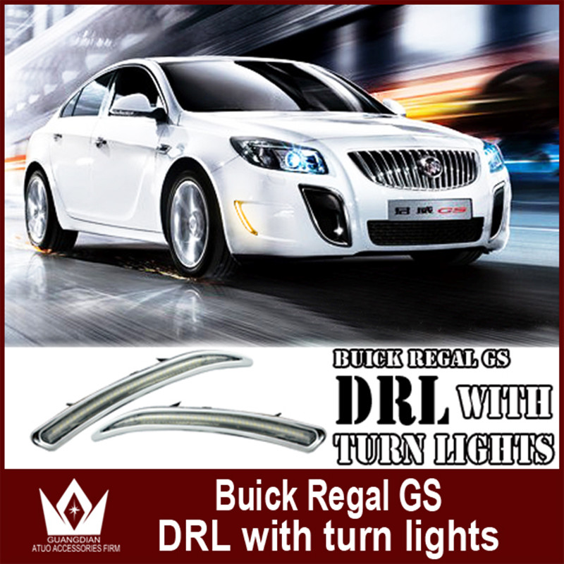 Night Lord For Buick Regal GS 2010-2015 Car LED DRL Daytime running light With Turn Signal light day led car light car styling auto clud car styling for buick regal gs led drl for regal gs led daytime running light high brightness guide led drl b style