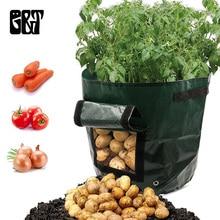 GT 1/2/5/10pcs Vegetable Plant Grow Bag DIY Potato Grow Planter PE Cloth Planting Container Bag Vegetable Gardening Grow Bag цены онлайн