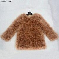 Jancoco 최대 S1277 여성 2016 진짜 모피 재킷 또는 정품