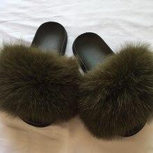 Г., летние женские меховые шлепанцы модные пляжные сандалии с натуральным лисьим мехом пушистые удобные меховые вьетнамки