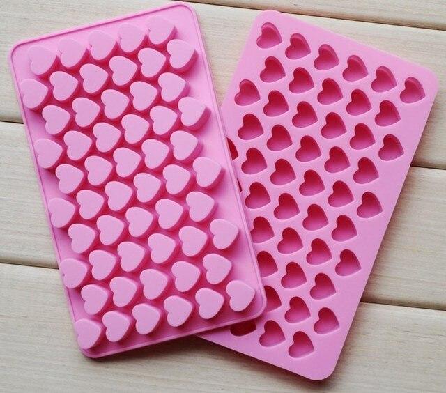 55 coração-em forma de molde de Silicone molde para fazer o molde do doce de chocolate açúcar mascavo e mold ice D038