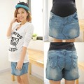 Материнство юбка Летом Новый Прибытия джинсовые твердые над коленом, мини-стрит беременности юбки женской Одежды Для Беременных Плюс Размер