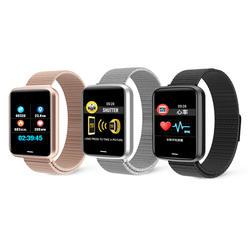 Smart Браслет сердечного ритма артериального давления детектор здоровья H19 1,3 дюйма большой цветной экран Водонепроницаемый BT спортивные smart