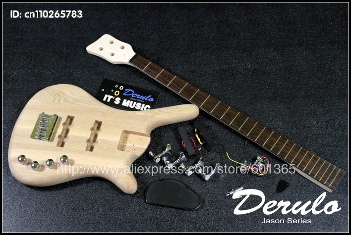 DIY Electric Bass Guitar Kit Bolt-On Solid Alder Body Canadian maple neck MX-037 diy electric guitar kit bolt on neck solid mahogany body monkey grip