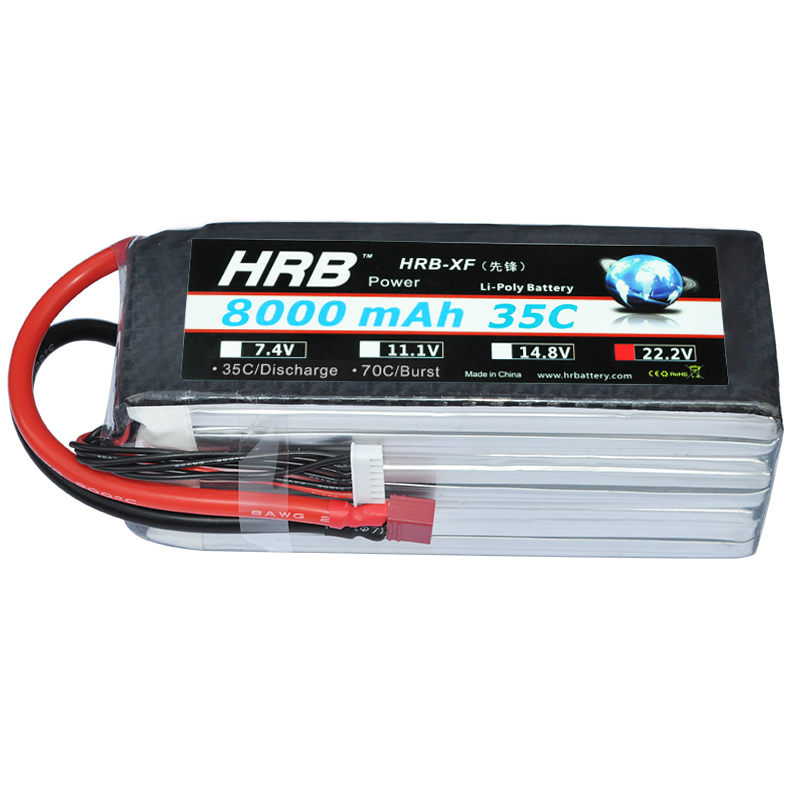 HRB RC Bateria Drone AKKU 6S 22.2V 8000mah 35C LiPo Battery Traxxas For RC Helicopter Airplane Car Boat Quadcopter UAV FPV hrb rc 5s lipo battery 18 5v 4000mah 35c 70c drone akku bateria for helicopter car boat quadcopter rc airplane uav fpv