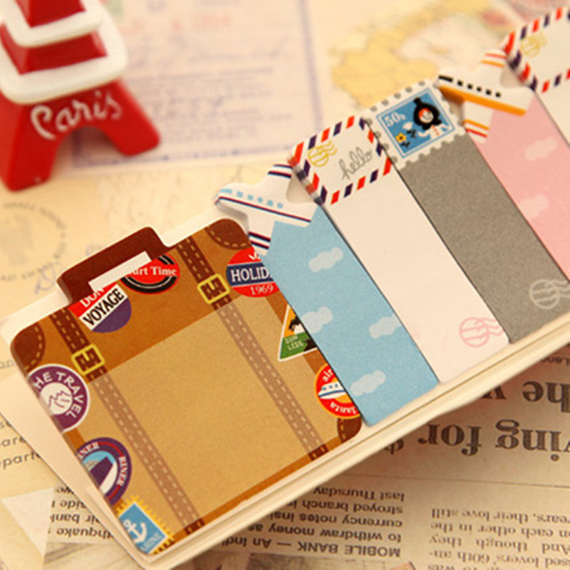 Image 4 - 48 pcs/Lot Cute post stick memo paper animal sticky note it stickers bookmark stationery papelaria office School supplies A6754note stickerstick memostickers bookmarks -
