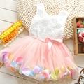 2016 New Casual Flower Girl Dress Girls Summer Dresses Sleeveless Dress For Girls Children's Dress Kids Clothes Ball Gown