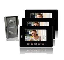 """ENVÍO GRATIS 7 """"Color TFT Monitores LCD Botón Táctil video de la puerta de intercomunicación teléfono con caja de metal cámara de la puerta a prueba de lluvia home portero"""