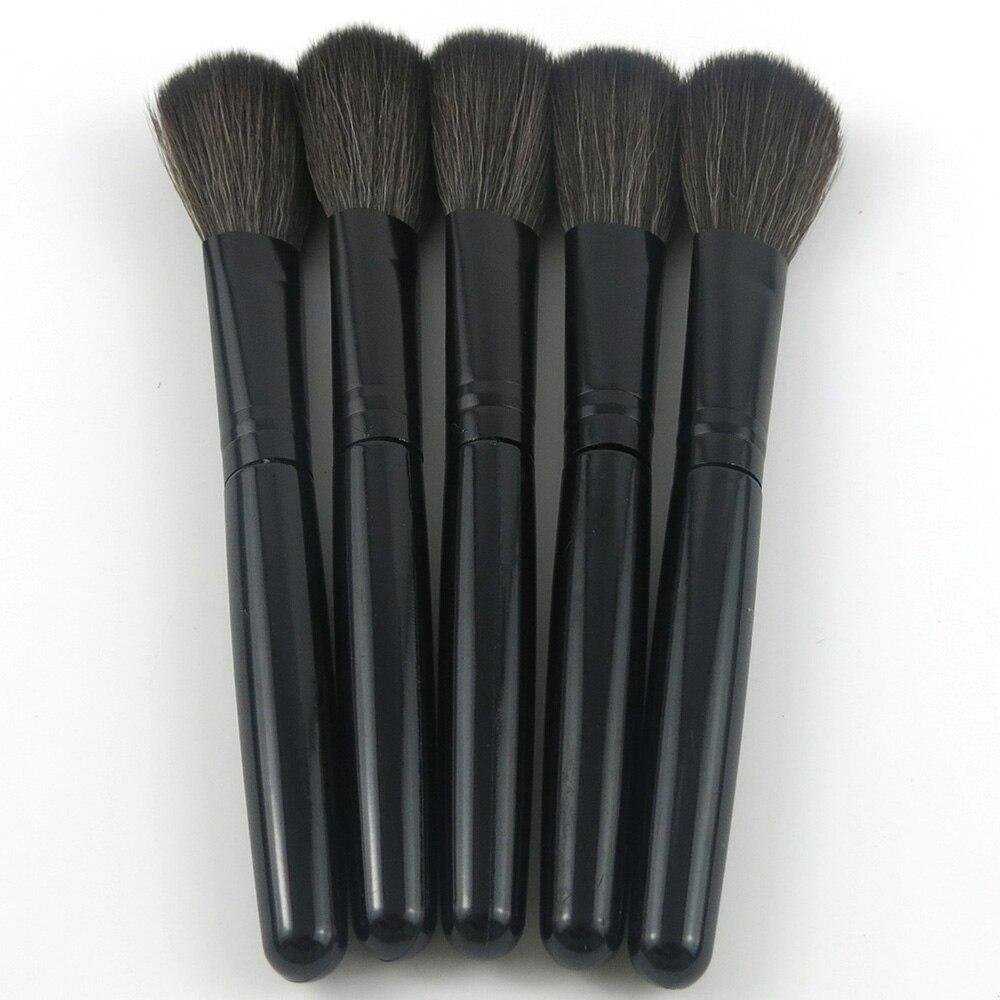 Hot Sale!! 2pcs Black Makeup Soft Brush Beauty Powder blusher Foundation Concealer Brush Face Cosmetic Tool Make up Brushes