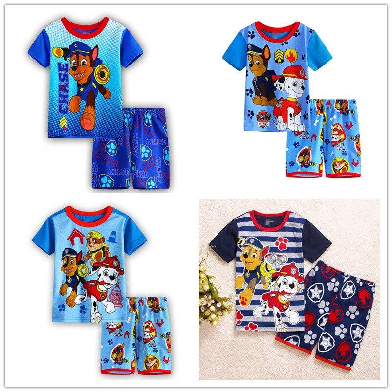 children boys sets new boys summer kids clothing cartoon dog short sleeve cotton boy clothing set