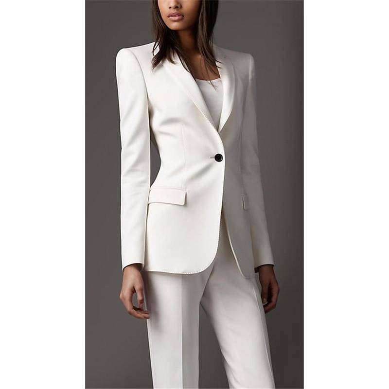 Printemps Pièces Travail 2 Sur Picture Costumes Nouvelles Femmes Blanc Les Formelles Mesure D'été Fait Vêtements Femme Entreprises Des As Pour De BwqETnRO