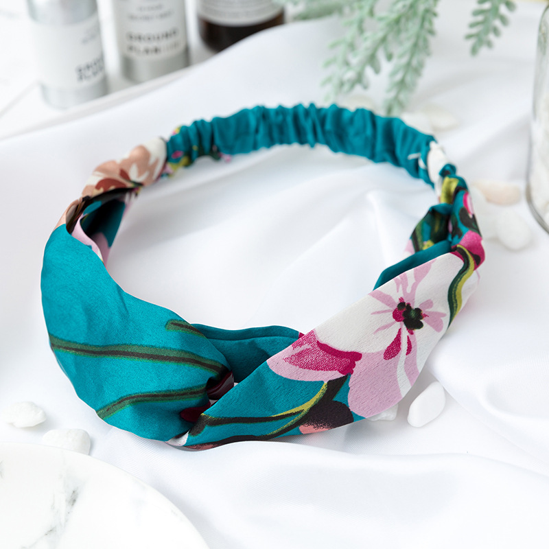 Women Girls Summer Bohemian Hair Bands Print Headbands Vintage Turban Bandage Bandanas HairBands Haar Hair Accessories Headwrap in Women 39 s Hair Accessories from Apparel Accessories