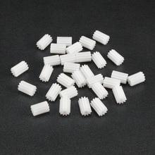 Uxcell 30 шт./лот 102/122A 10T 12 зубьев 2 мм вал пластиковые шестерни 9x6 мм/5x7 мм для DIY автомобиля Робот Мотор Игрушка аксессуары