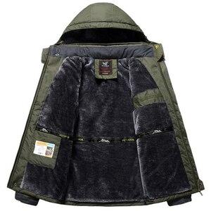 Image 2 - Winter Jacket Men Thick Windproof Waterproof Fleece Jackets Mens Military Outwear Parka Overcoat Plus size 6XL7XL 8XL 9XL  Coats