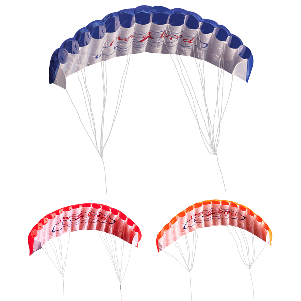 1Pcs Outdoor Fun Double Line Kite Rainbow 30m Two Lines Controled Sports Beach Kite with Handle for Kids Adults Easy to Fly