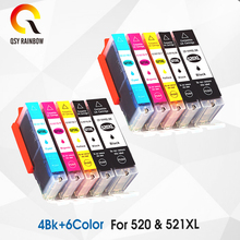 Replacement Ink Cartridges PGI 520 CLI 521 for Canon PIXMA iP3600 4600 4700 MP 540 550 560 620 630 640 980 MX860 Printer chip