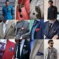 Envío de la Alta calidad 9 colores accesorios para hombre hombre pañuelo pañuelo cuadrado de seda traje de pecho cuadrado