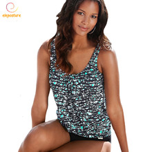 2020 New Tankini Swimsuits Plus Size Swimwear Women Vintage Retro Bikini Set High Waist Swimsuit Bathing Suit Brazilian Biquini