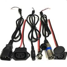 Литиево-ионная батарея eBike Для электровелосипеда, баланс, автомобильная зарядка, розетка, зарядное устройство, интерфейс, кабель, провод, Разъем GX12 T, тип Canon